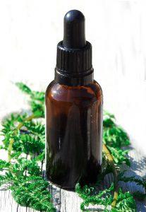 bottle of essential oil blend